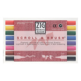 Sada popisovačů SCROLL & BRUSH - 8 ks